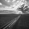 Long Road into the Sunset (BW)