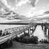 Mississippi River Bridge at Vicksburg (BW)