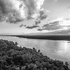 Low Clouds on the Mississippi (BW)