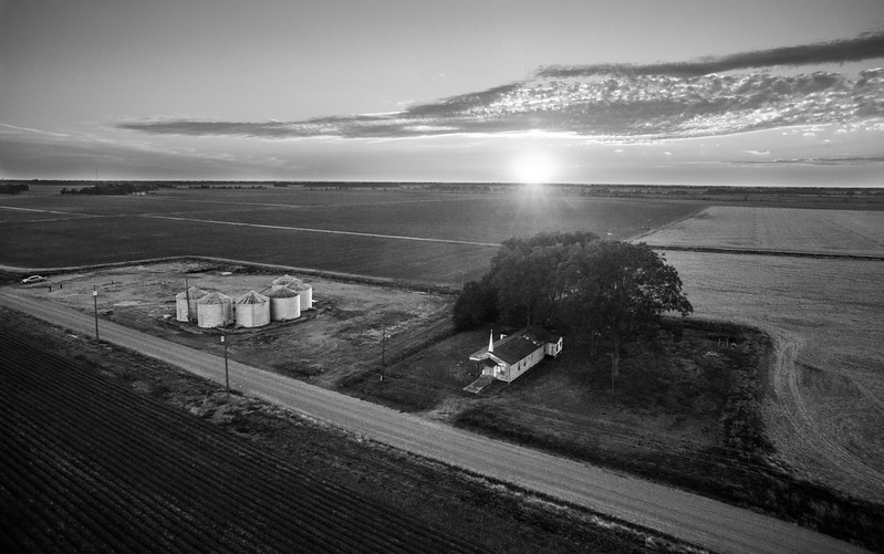 Symonds Country Sunset (BW)
