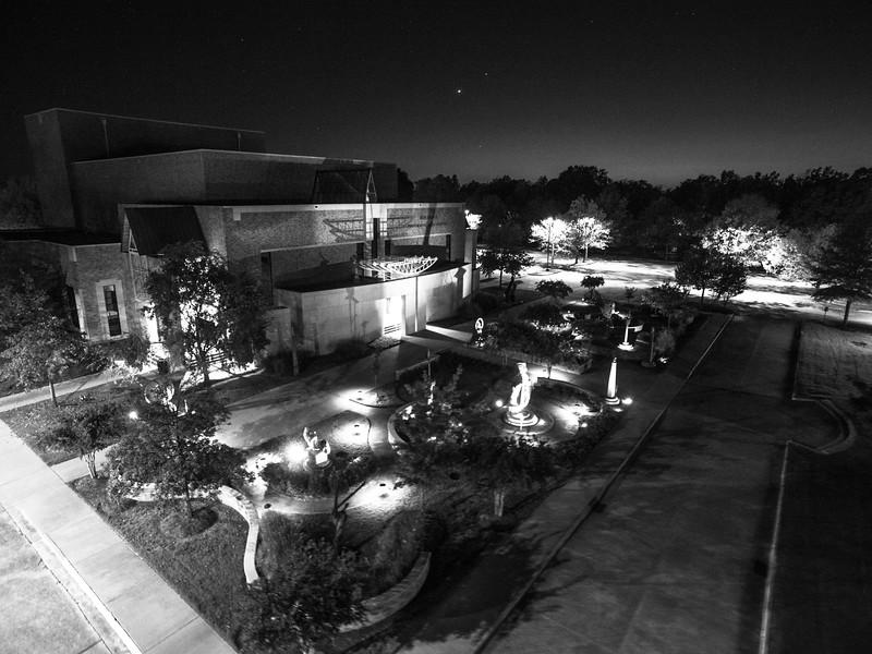 BPAC Sculpture Garden (BW)