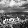 Rainclouds & Rice Bins (BW)