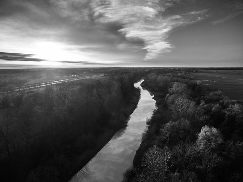 Sunflower River at Dockery (BW)