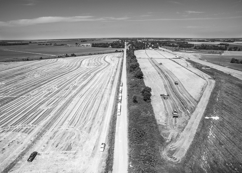 Rice Harvest Road (BW)