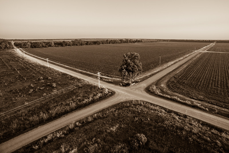 Crossroad Compass (BW)