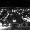 Night Lights on the Quad (BW)
