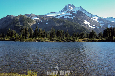 Mt Jefferson over Bays Lake