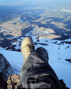 Feet Hanging Off the South Sister
