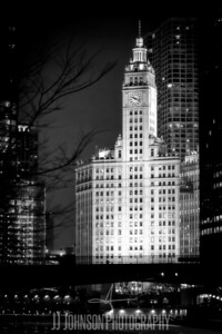 Wrigley Building in B&W