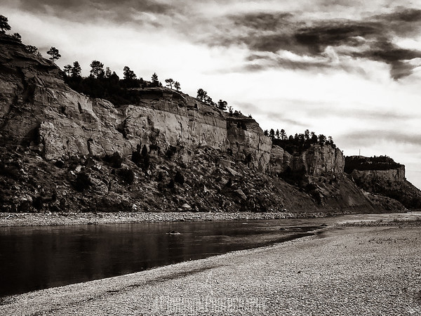B&W Yellowstone River