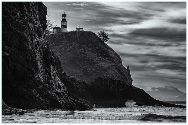 Cape Disappointment B&W