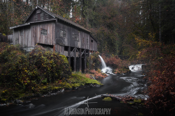Gloomy Fall at the Mill