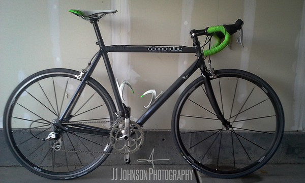 Cannondale in the Garage