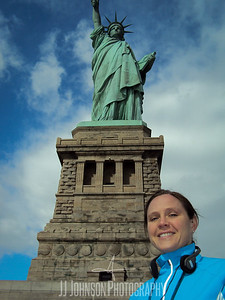 Smiley at the Statue of Liberty