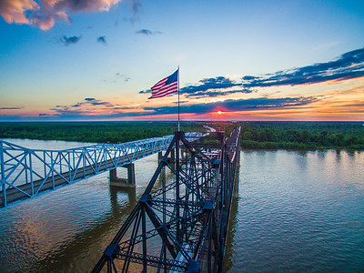 Old Glory on the Mighty Mississippi