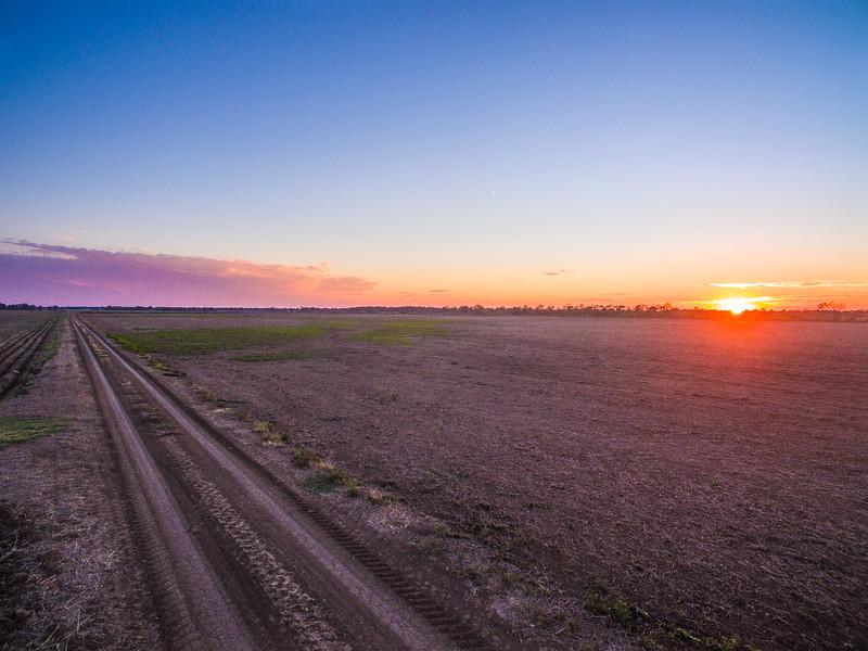 Turn-Road Sunset