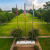 Flag Poles & Oak Trees