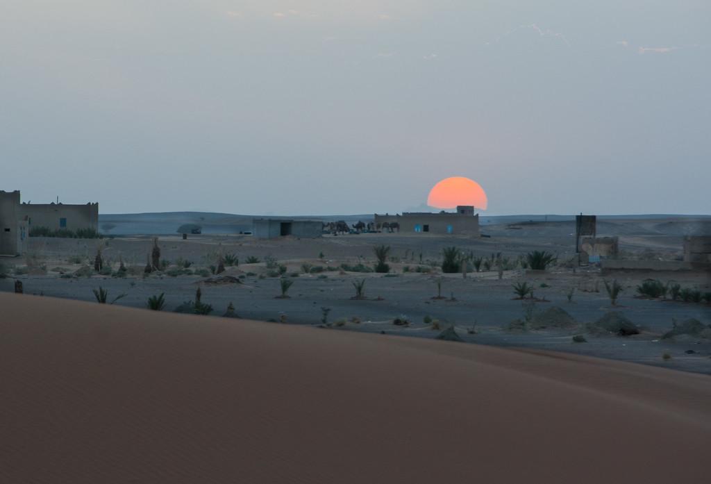 Sunset at the Sahara desert