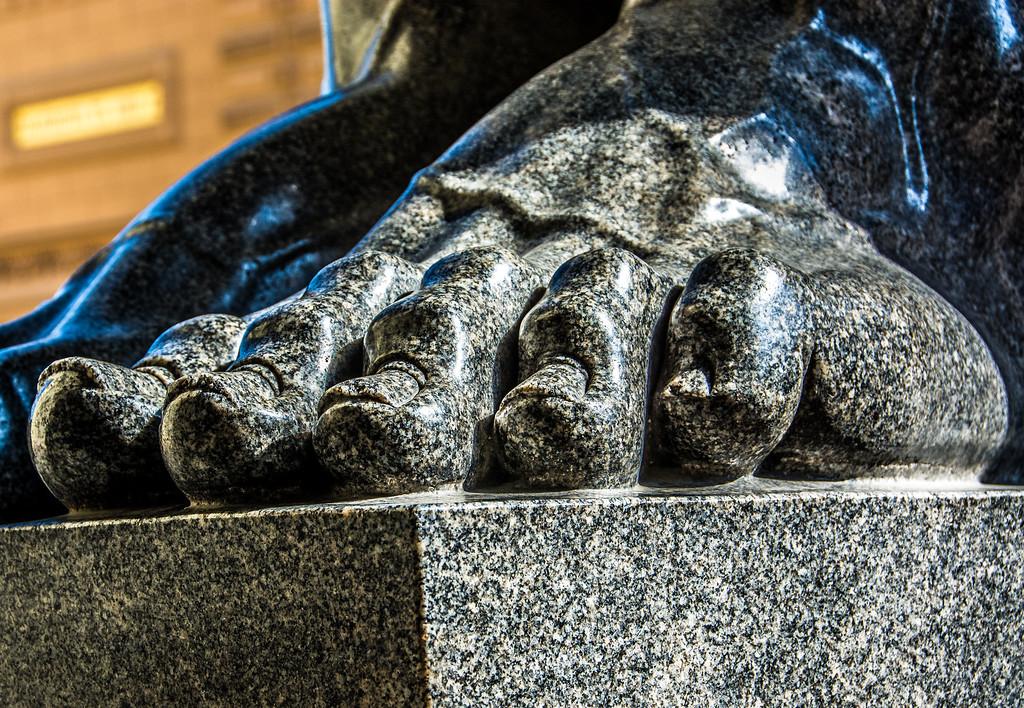Giant Feet guarding St. Petersburg