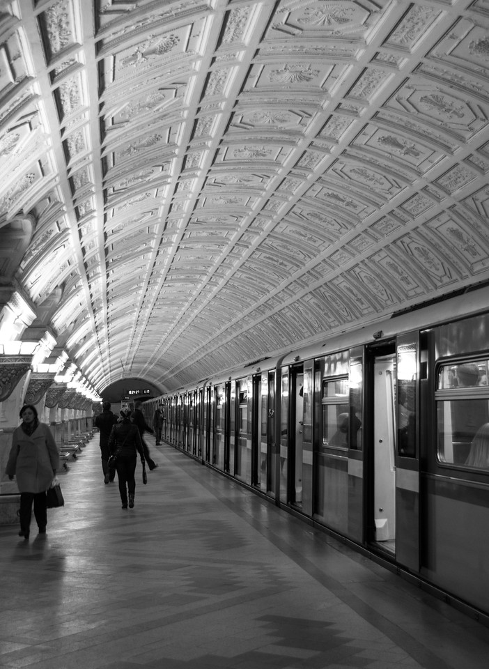 The beautiful metro of Moscow