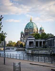 The Berlin cathedral late in the afternoon