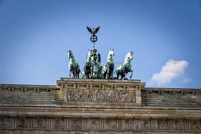 The top of Brandenburg Gate