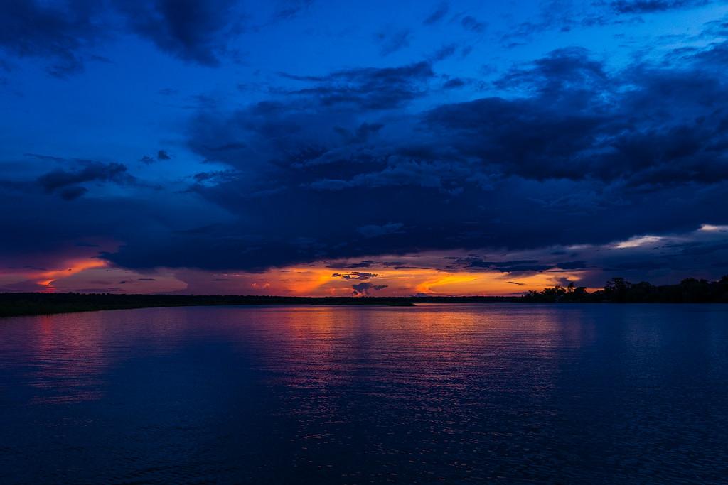 Sunset at the Chobe river