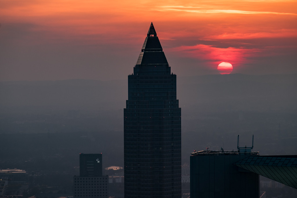 Sunset at the Messeturm