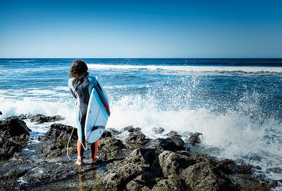 Ready to jump in - at the north coast of Fuerteventura