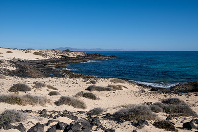 The beach along the dunes of Corralejo