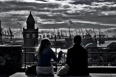 Hamburg harbor - dramatic