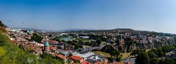Tbilisi from the top of the hill