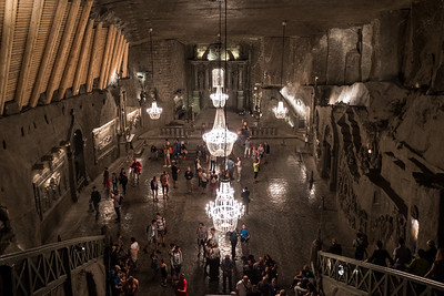 Inside the salt mine Wieliczka close to Krakow