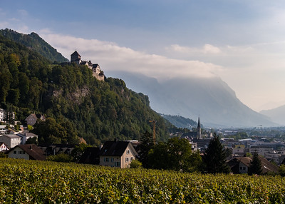 Vaduz with the castle on the top of the hill