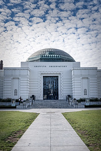 The entrance to the Griffith Observatory in Los Angeles