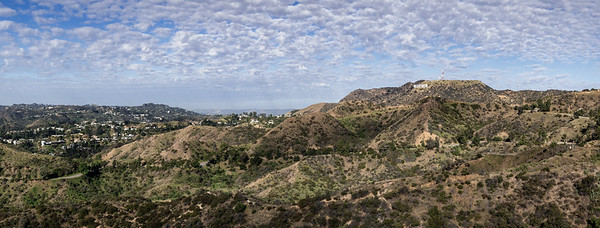 The Hollywood hills from the Griffith Observatory