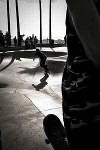 The famous Skate Park in Venice Beach