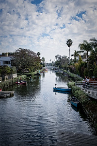 The canals of Venice Beach Los Angeles