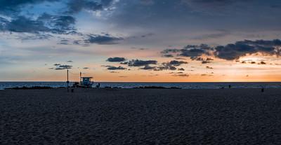 Sunset at Venice Beach