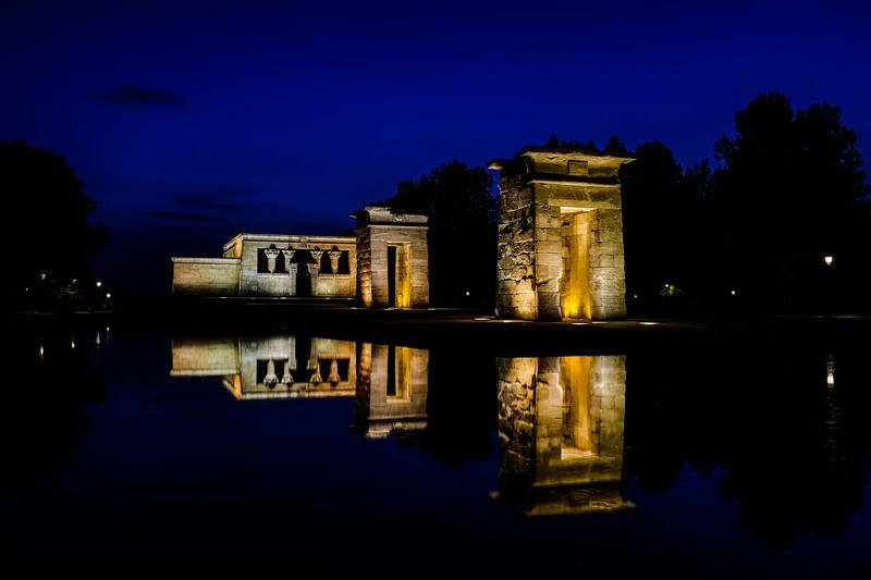 Templo de Debod at blue hour