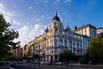 Beautiful buildings in downtown Madrid