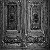 The wooden door