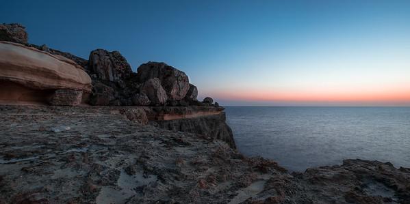 Sunset at the cliffs