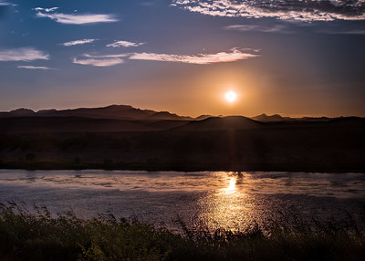The Orange River Sunset