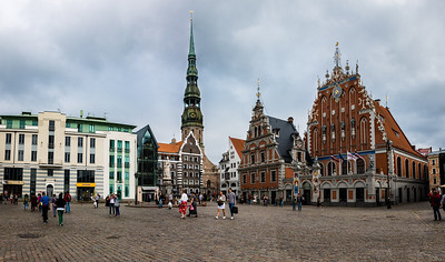Town hall square pano