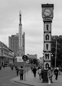 Famous Laima clock and Freedom Monument