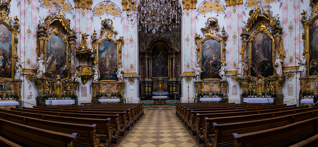 Ettal Abbey Panorama