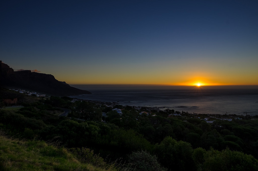 Sunset from the bottom of Lions Head