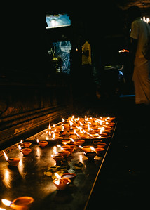 Offerings at the Shri Ponnambalawaneswaram Kovil temple in Colombo Sri Lanka.