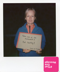 Sybille, Germany - Take care of the environment! Eat healthy!